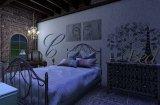 szablon malarski na ścianie