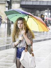 Kobieta z parasolem